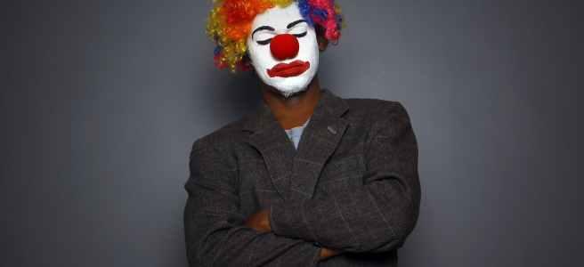 Foto eines Clowns